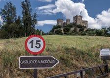 Castello del Rio, di Almodovar è un coraggio dell'origine musulmana, Immagine Stock Libera da Diritti