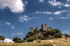 Castello del Rio, di Almodovar è un coraggio dell'origine musulmana, Fotografie Stock