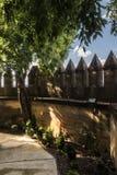 Castello del Rio, di Almodovar è un coraggio dell'origine musulmana, Immagini Stock Libere da Diritti