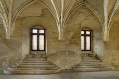 Castello del ` s Hunyadi di Corvin in Hunedoara, Romania Fotografie Stock Libere da Diritti