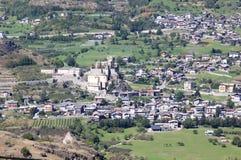 Castello del Saint Pierre, valle di Aosta, Nord-Italia Fotografie Stock