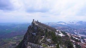 Castello del San Marino stock footage