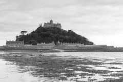 Castello del supporto del ` s di St Michael - acqua di marea Fotografia Stock Libera da Diritti