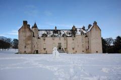 Castello del tamburo nella neve Fotografia Stock