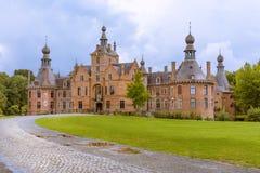 Castello del XVI secolo di Ooidonk in Fiandre Fotografia Stock Libera da Diritti