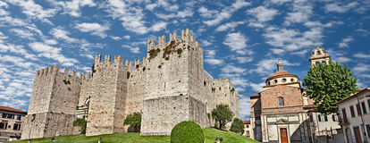 Castello dell'Imperatore and church Santa Maria delle Carceri in Royalty Free Stock Photography