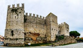 Castello-dell'Imperatore in Prato, Italien stockfotografie