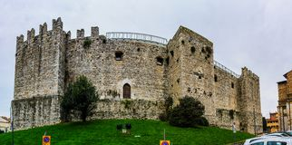 Castello dell`Imperatore in Prato, Italy. Castello dell`Imperatore is castle with crenellated walls and towers. Built for medieval emperor and King of Sicily Stock Photo