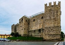 Castello dell`Imperatore in Prato, Italy. Castello dell`Imperatore is castle with crenellated walls and towers. Built for medieval emperor and King of Sicily royalty free stock image