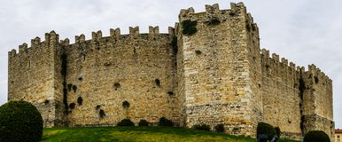 Castello dell'Imperatore in Prato, Italy. Castello dell'Imperatore is castle with crenellated walls and towers. Built for medieval emperor and King of Sicily stock image