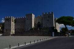 Castello dell`Imperatore Prato Italy Tuscany. Medieval Castle. Great place for tourist royalty free stock photo