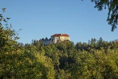Castello dell'sanguinato di, la Slovenia europa fotografia stock