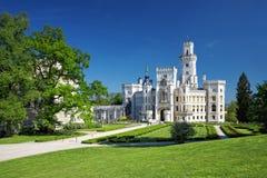 Castello della Boemia Hluboka nad Vltavou Fotografie Stock Libere da Diritti