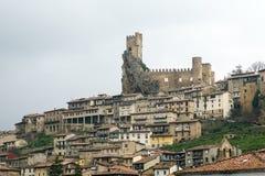 Castello della città di Frias Burgos, Spagna Fotografie Stock