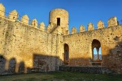 Castello della città di Frias in Spagna fotografie stock