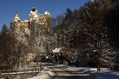 Castello della crusca nel paesaggio di inverno Fotografie Stock