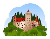 Castello della crusca Viaggio alla Transilvania Fotografie Stock Libere da Diritti