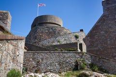 Castello della Elizabeth sull'isola della Jersey Fotografia Stock Libera da Diritti