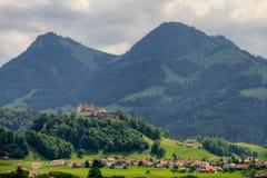 Castello della groviera, Svizzera Fotografia Stock Libera da Diritti