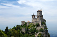 Castello della Guaita. One of three fortress of San Marino, Italy Stock Image