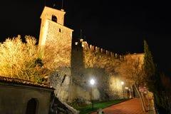 Castello della Guaita at night Stock Photography