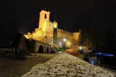 Castello della Guaita at night Royalty Free Stock Photography