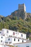 Castello della La frontera, Cádiz di Zahara de. fotografie stock