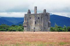 Castello della montagna Fotografia Stock