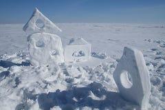 Castello della neve Fotografie Stock Libere da Diritti