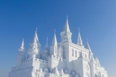 Castello della neve Fotografia Stock Libera da Diritti