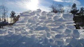 Castello della neve Immagini Stock Libere da Diritti