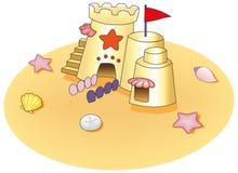 Castello della sabbia Illustrazione Vettoriale