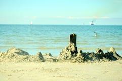 Castello della sabbia dal Mar Baltico Fotografie Stock