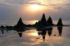 Castello della sabbia nella spiaggia Fotografie Stock