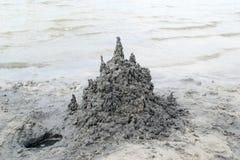 Castello della sabbia nera fotografie stock libere da diritti
