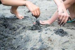 Castello della sabbia nera fotografia stock