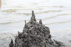 Castello della sabbia nera immagine stock libera da diritti