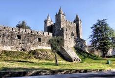 Castello della Santa Maria da Feira fotografie stock libere da diritti