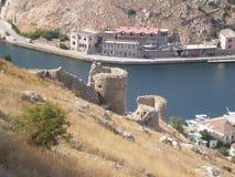 Castello della slitta sulla spiaggia Immagine Stock