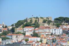 Castello della st George Lisabon - Portogallo Fotografie Stock Libere da Diritti