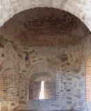 Castello della torre semicilindrica di Belmez dell'interno Immagini Stock