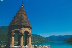 Castello delle montagne del paesaggio Fotografie Stock
