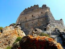 Castello di Acquafredda in siliqua sardinia L'Italia fotografie stock libere da diritti