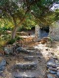 Castello di Acquafredda in siliqua sardinia L'Italia fotografia stock libera da diritti