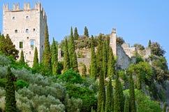 Castello di ACRO - ACRO-Schloss (Trentino, Italien) Stockfotos