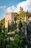 Castello di ACRO - ACRO-Schloss (Trentino, Italien) Stockbild
