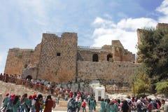 Castello di Ajloun immagine stock