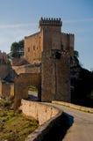 Castello di Alarcon, Cuenca. La Spagna Fotografia Stock