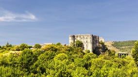 Castello di Alba la Romaine fotografia stock libera da diritti