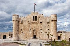 Castello di Alessandria Qaetbay Fotografie Stock Libere da Diritti